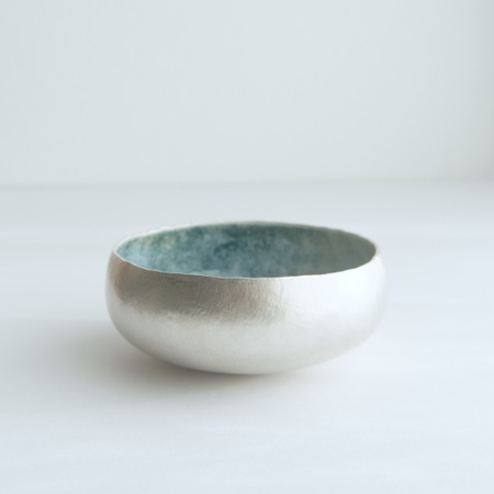 Silver bowl by Emma Louise Wilson